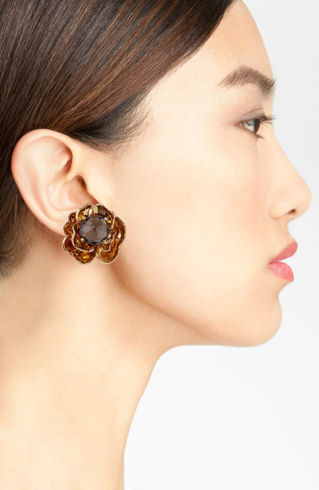 Alternate Image 2  - Tory Burch 'Crystal Rose' Stud Earrings
