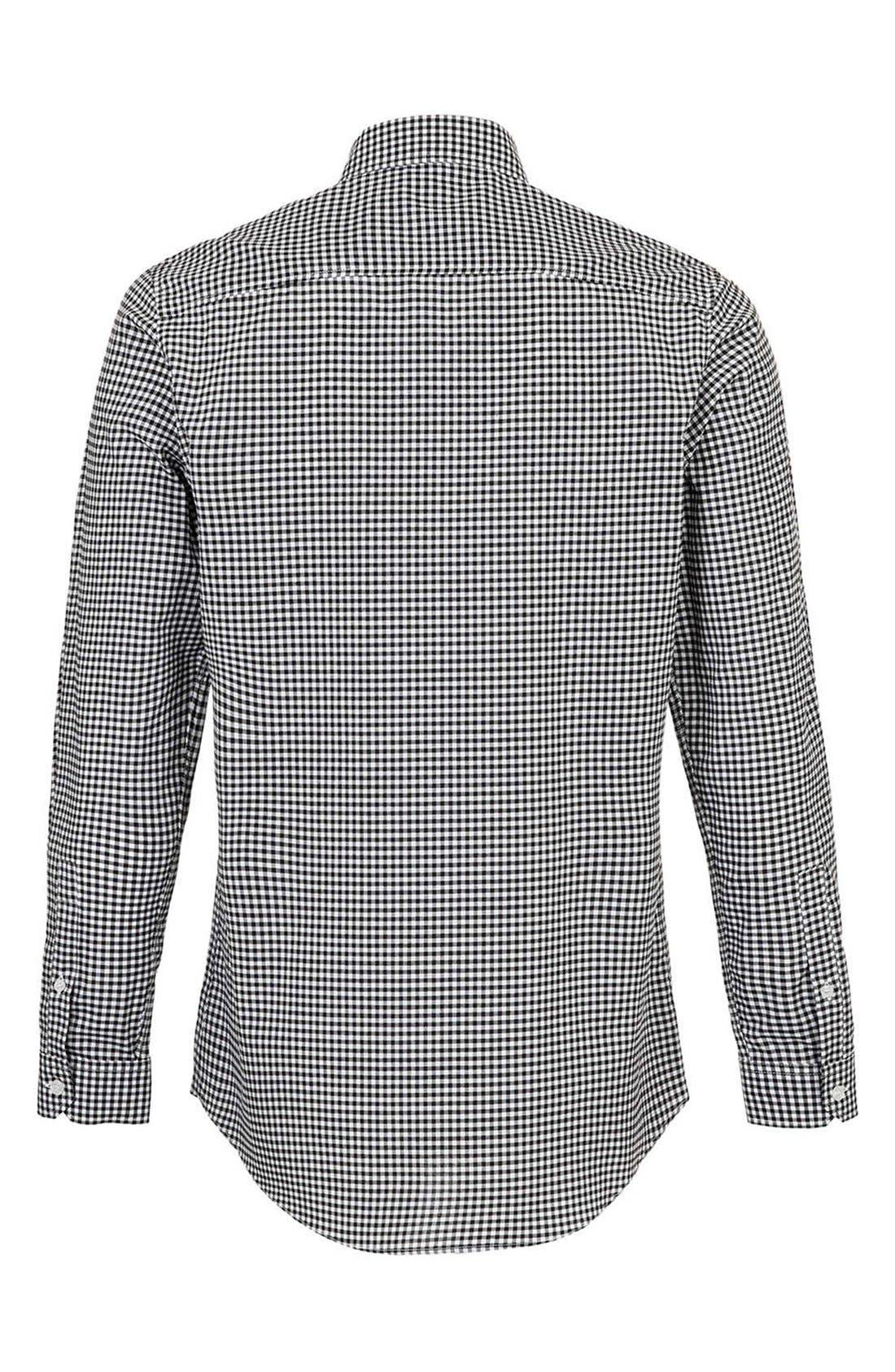 Alternate Image 2  - Topman Slim Fit Gingham Shirt