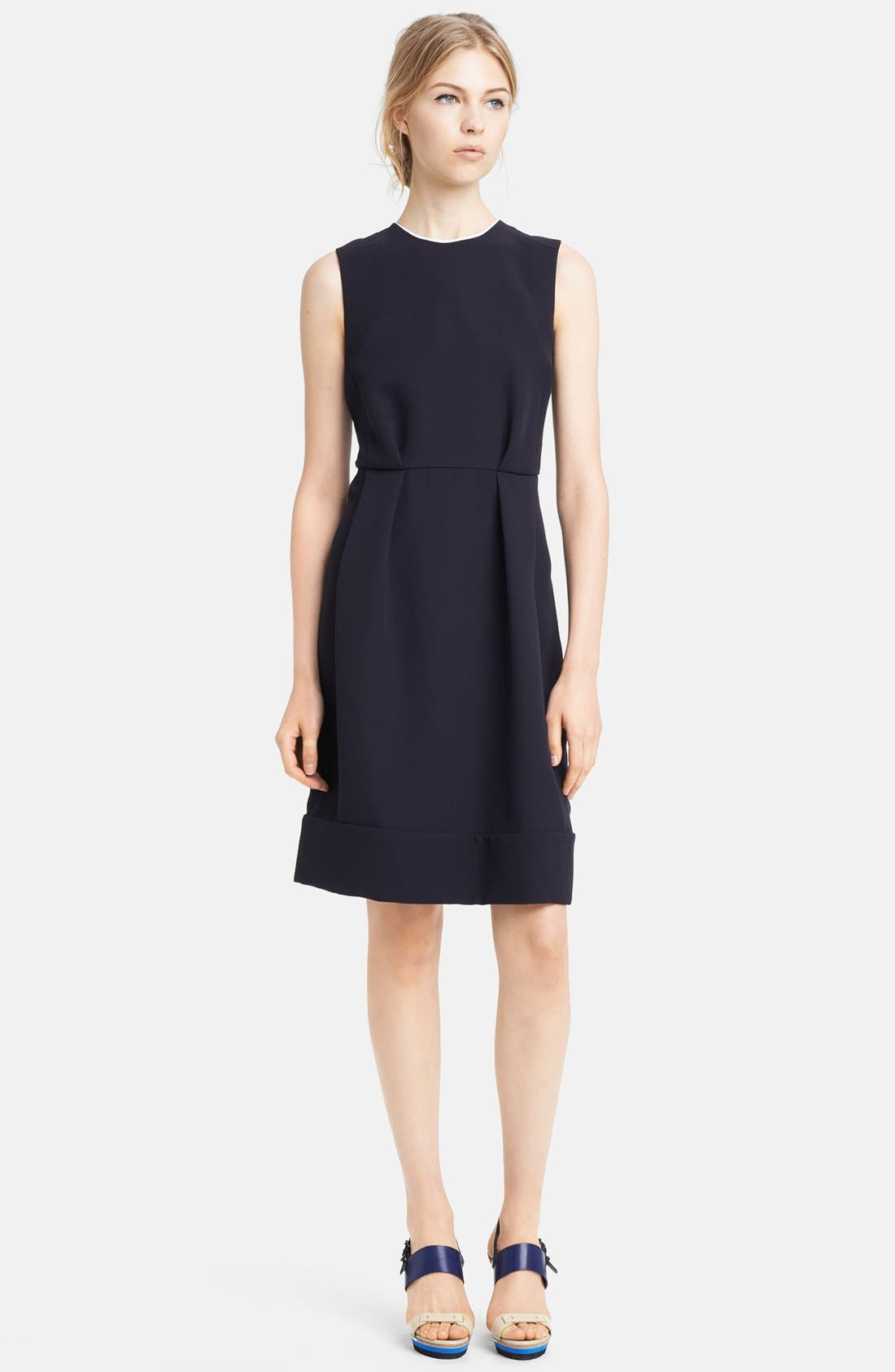Alternate Image 1 Selected - Marni Sleeveless Crepe Cady Dress