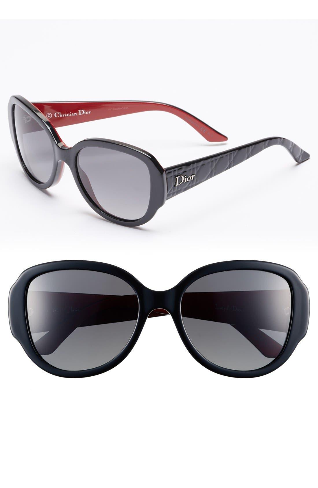 Main Image - Dior 'Lady in Dior' 55mm Polarized Sunglasses