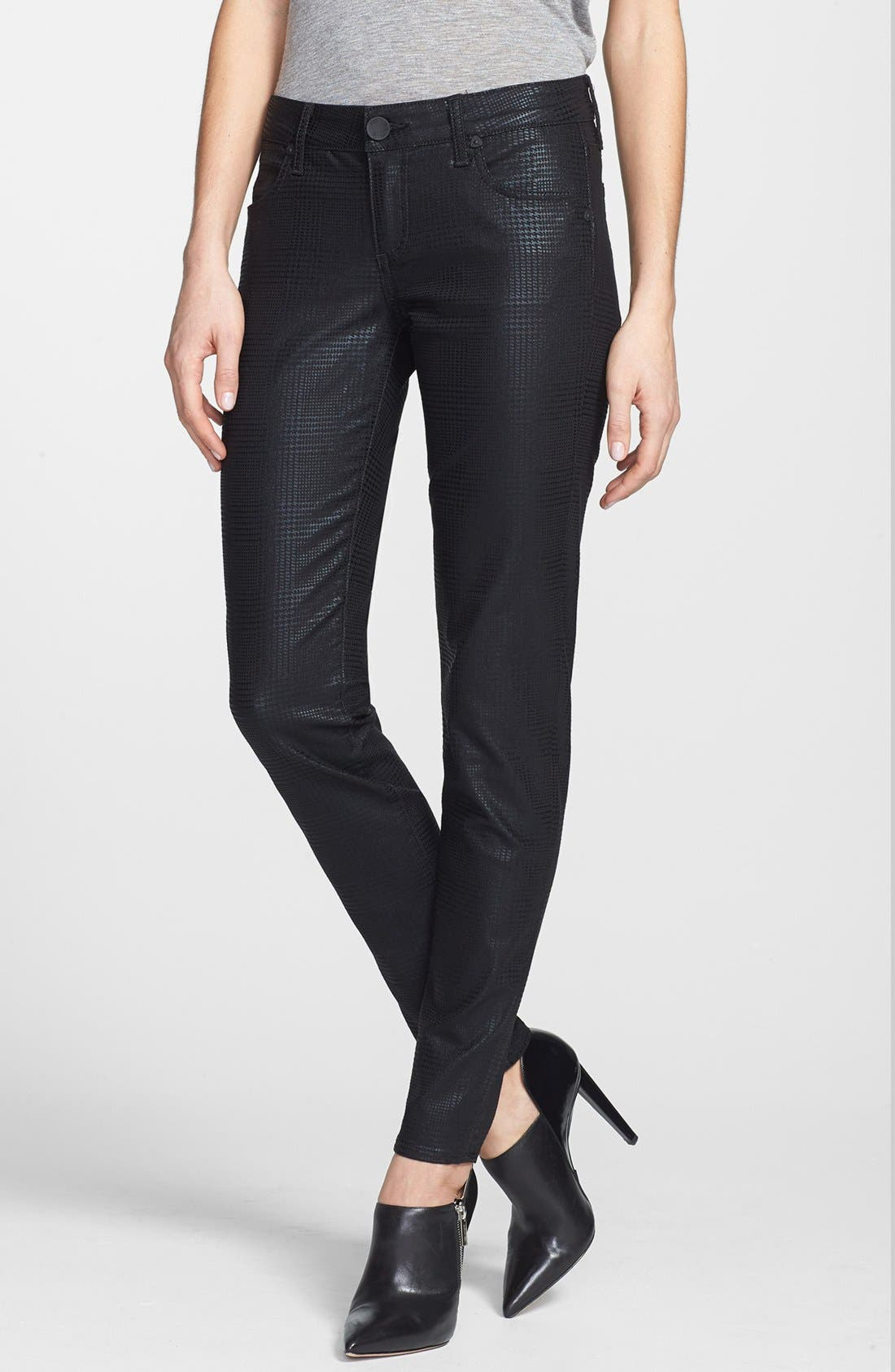 Alternate Image 1 Selected - KUT from the Kloth 'Mia' Toothpick Skinny Jeans (Black)