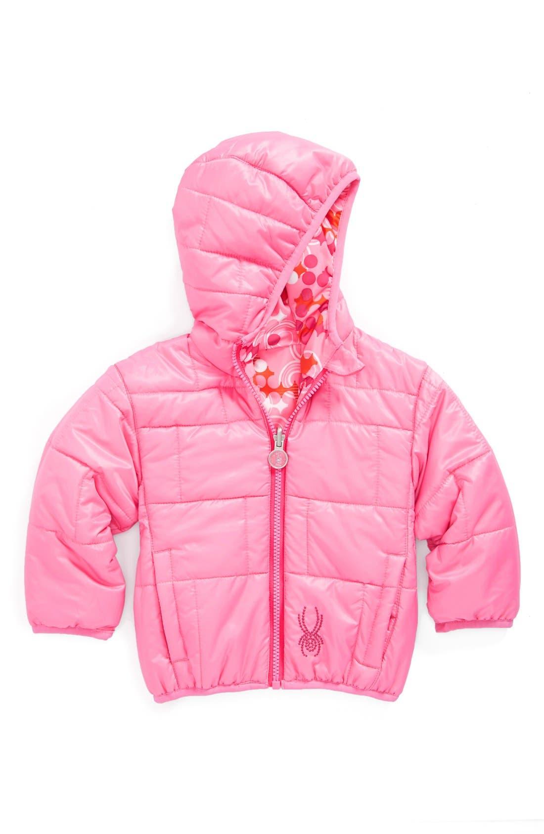 Alternate Image 2  - Spyder 'Yummy' Reversible Jacket (Baby Girls)
