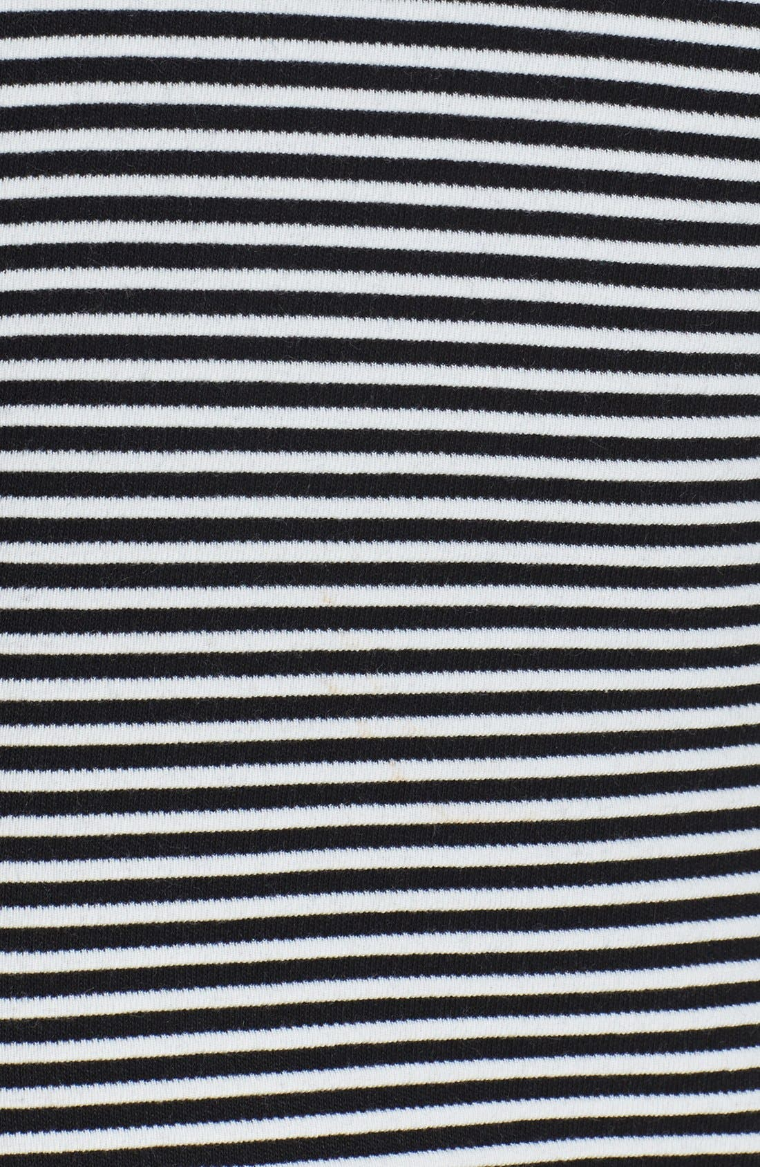 Alternate Image 4  - Isaac Mizrahi New York Colorblock Stripe Stretch Jersey Shift Dress