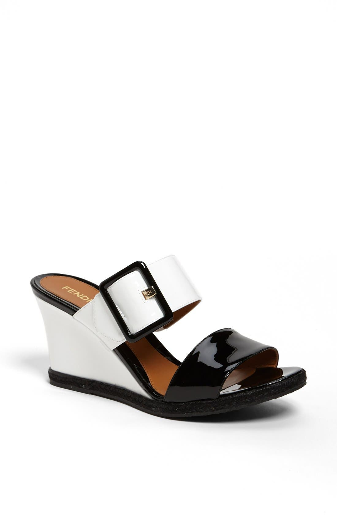 Alternate Image 1 Selected - Fendi 'Vernis' Wedge Sandal