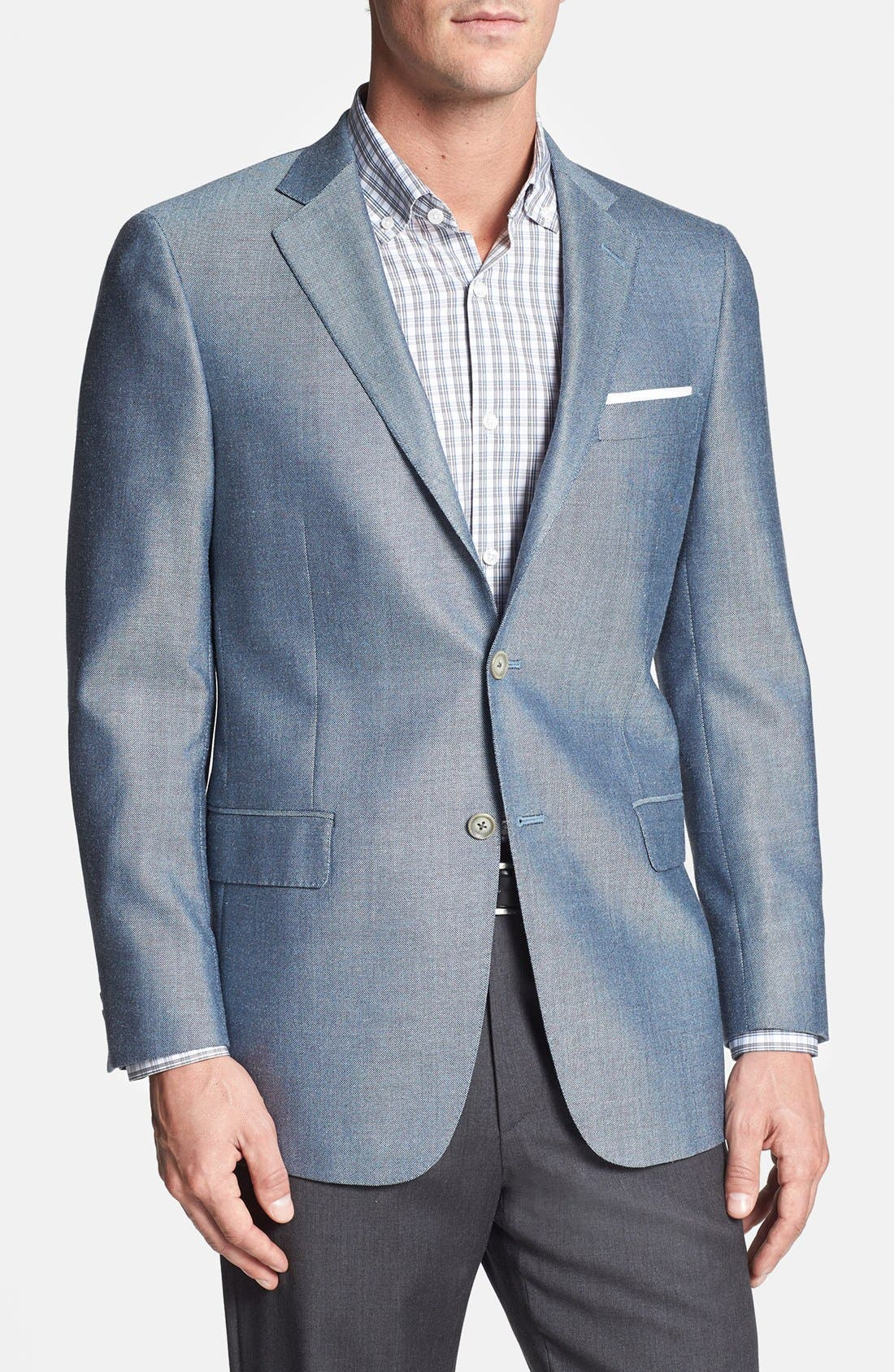 Alternate Image 1 Selected - Hart Schaffner Marx 'New York' Classic Fit Silk Blend Sportcoat