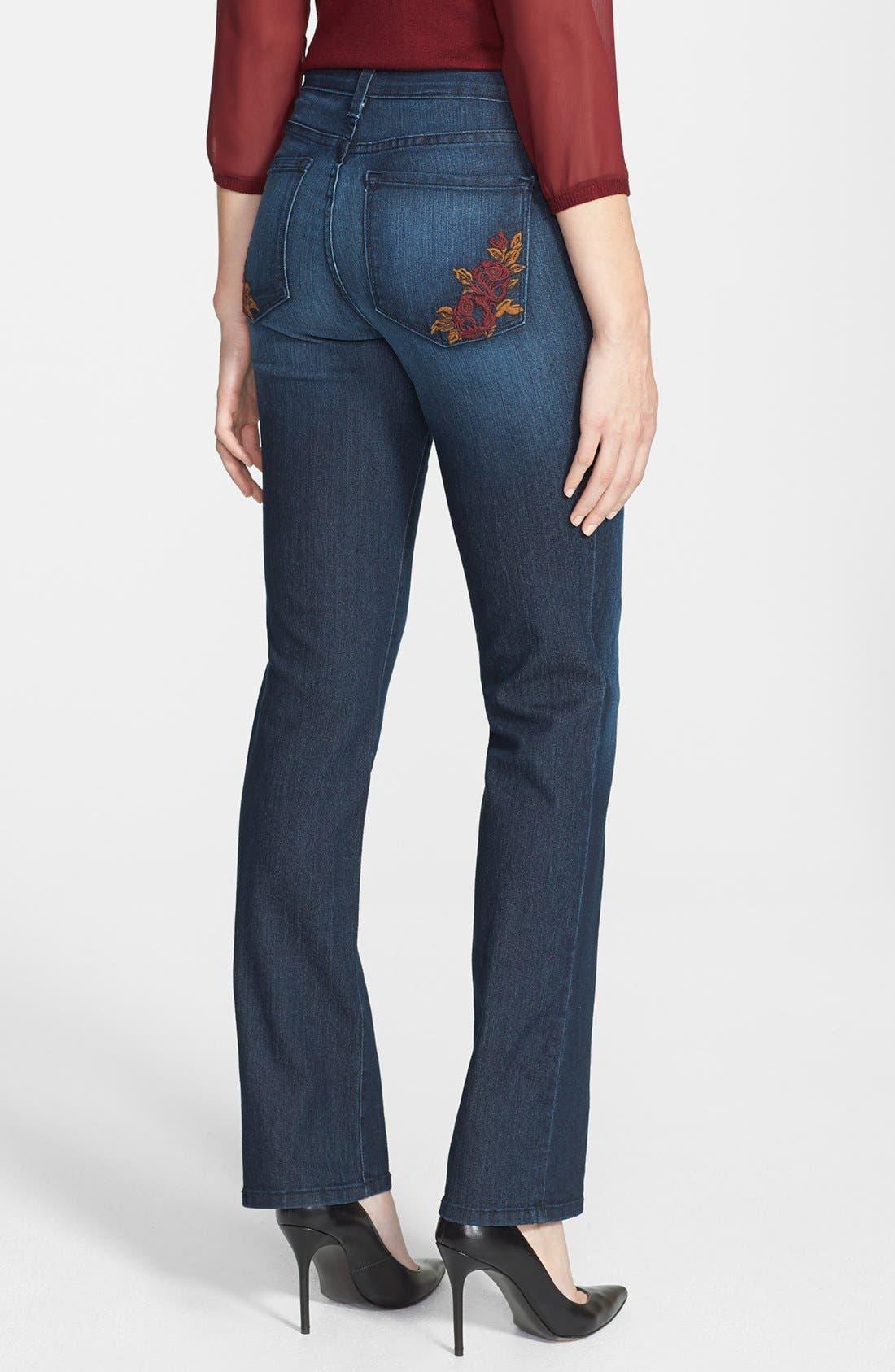 Alternate Image 2  - NYDJ 'Marilyn' Stretch Straight Leg Jeans (Dana Point)