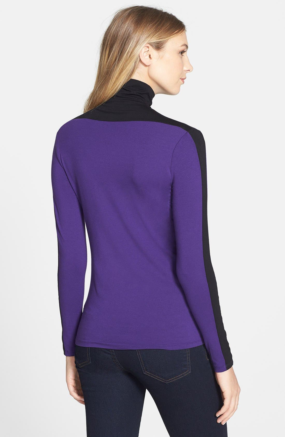 Alternate Image 2  - Vince Camuto Colorblock Turtleneck