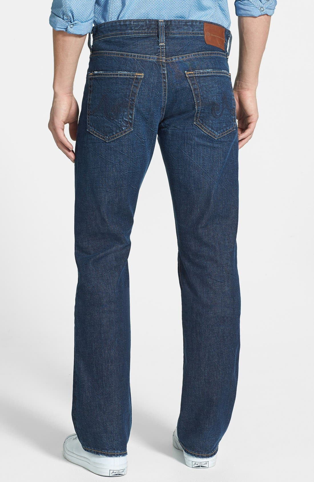 Alternate Image 2  - AG 'Protégé' Straight Leg Jeans (Five Year Field)