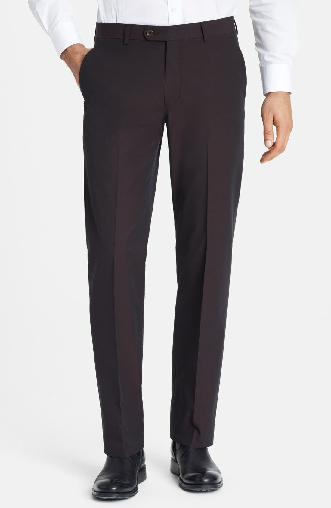 Main Image - John Varvatos Star USA Flat Front Trousers
