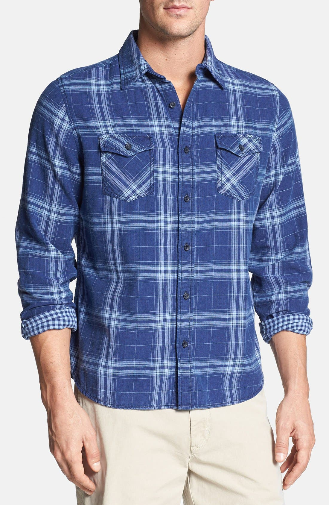 Alternate Image 1 Selected - Surfside Supply Double Face Plaid Cotton Shirt