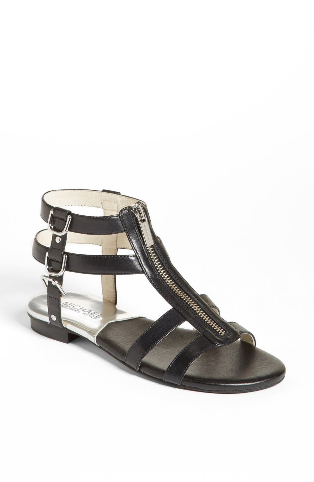 Alternate Image 1 Selected - MICHAEL Michael Kors 'Kennedy' Flat Leather Gladiator Sandal