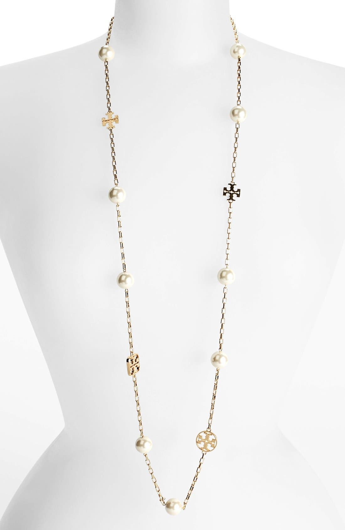 Main Image - Tory Burch 'Evie' Extra Long Station Necklace