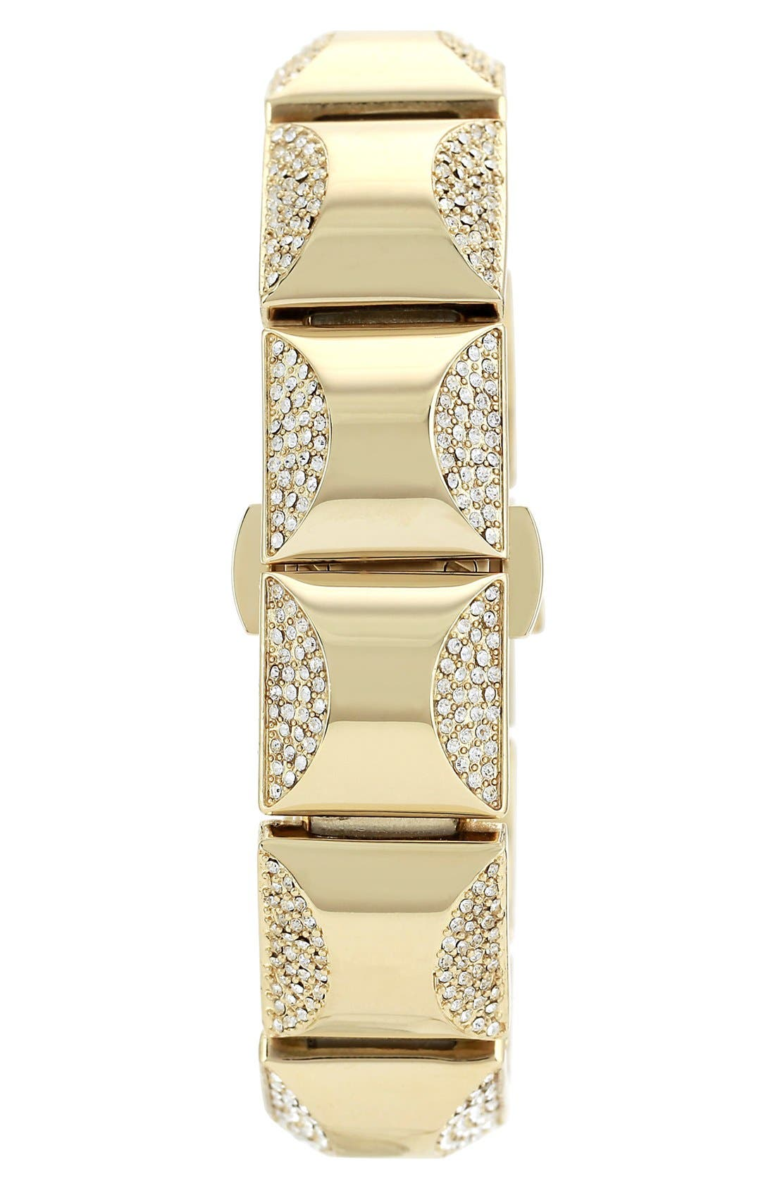 Alternate Image 3  - Vince Camuto Covered Case Crystal Accent Bracelet Watch, 17mm