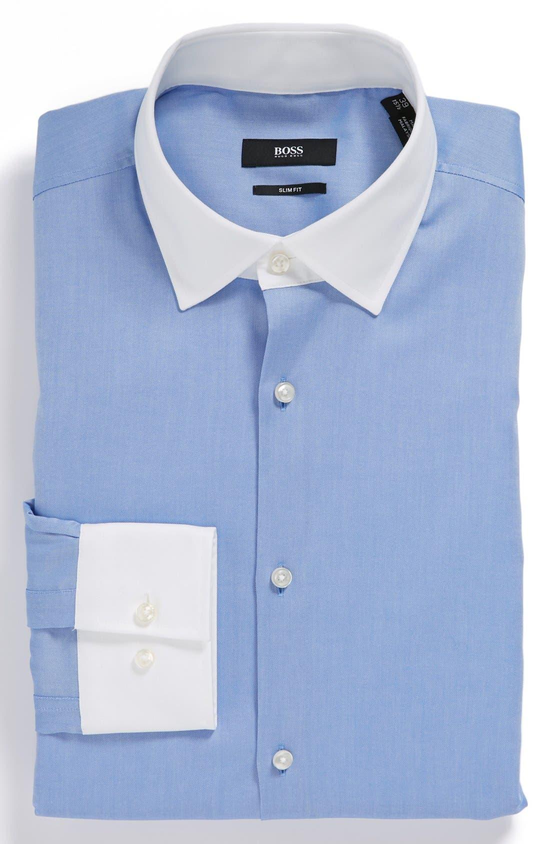 Alternate Image 1 Selected - BOSS HUGO BOSS 'Jonne' Slim Fit Easy Iron Dress Shirt