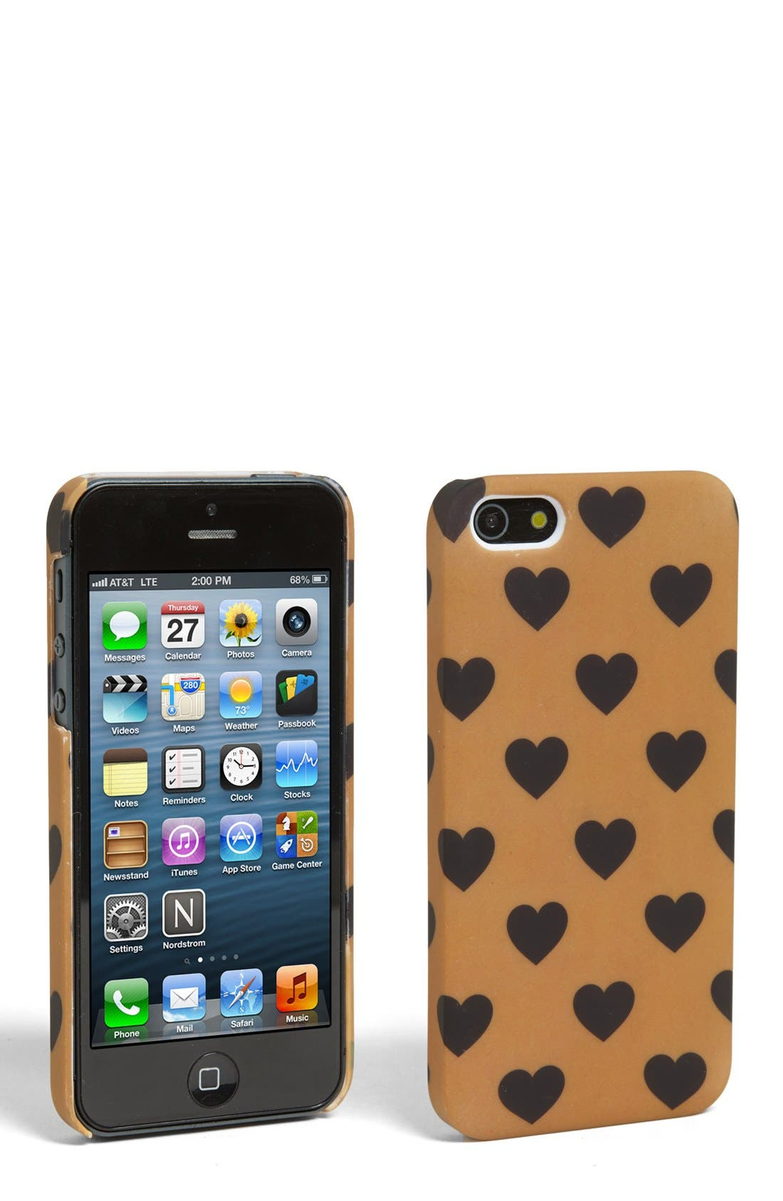 Alternate Image 1 Selected - Tri-Coastal Design 'Heart' iPhone 5 Case (Juniors)