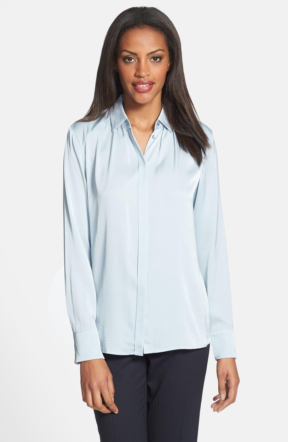 Alternate Image 1 Selected - BOSS HUGO BOSS 'Bivella' Stretch Silk Shirt
