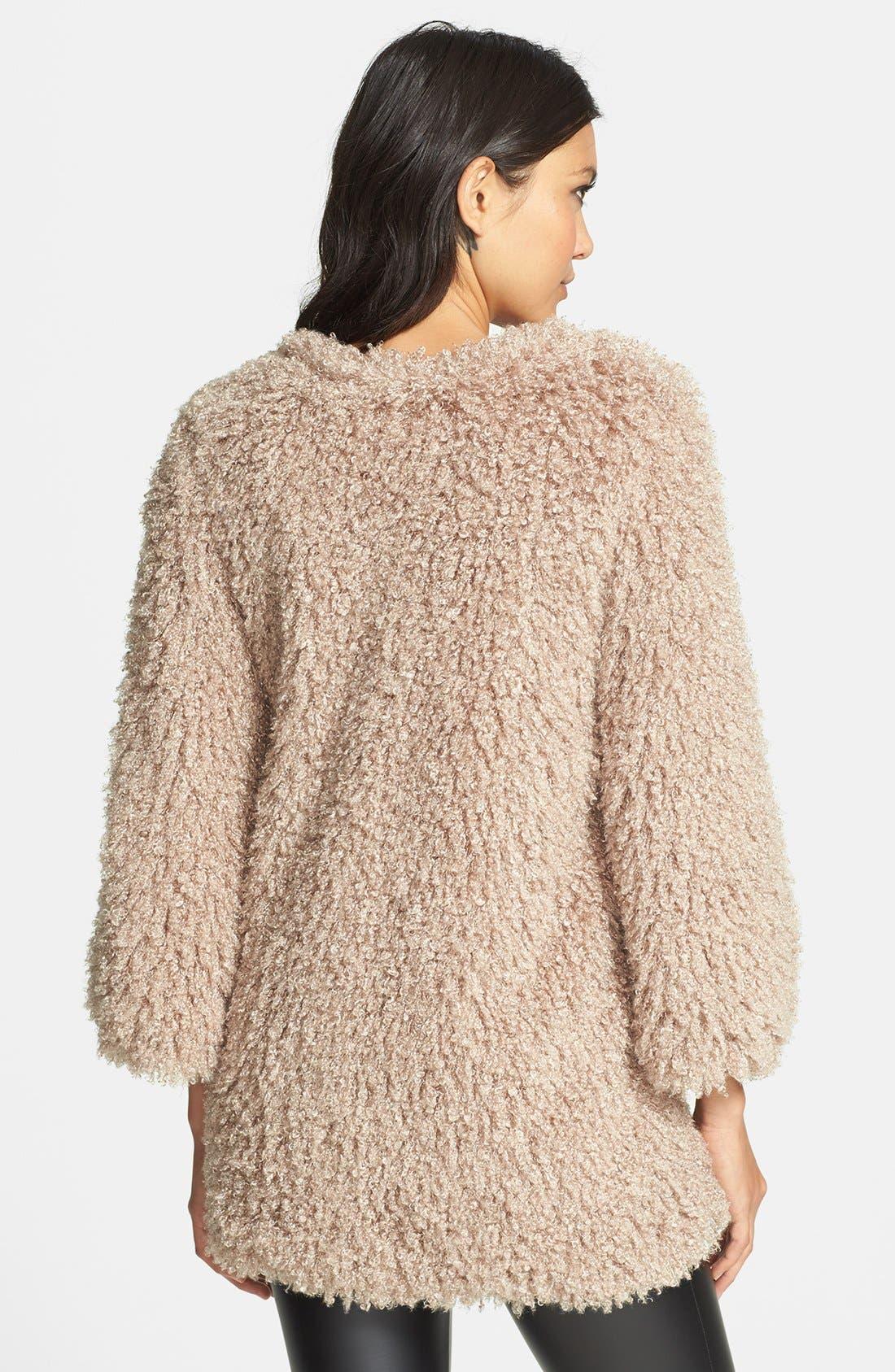 Alternate Image 2  - Lark Faux Fur Swing Coat