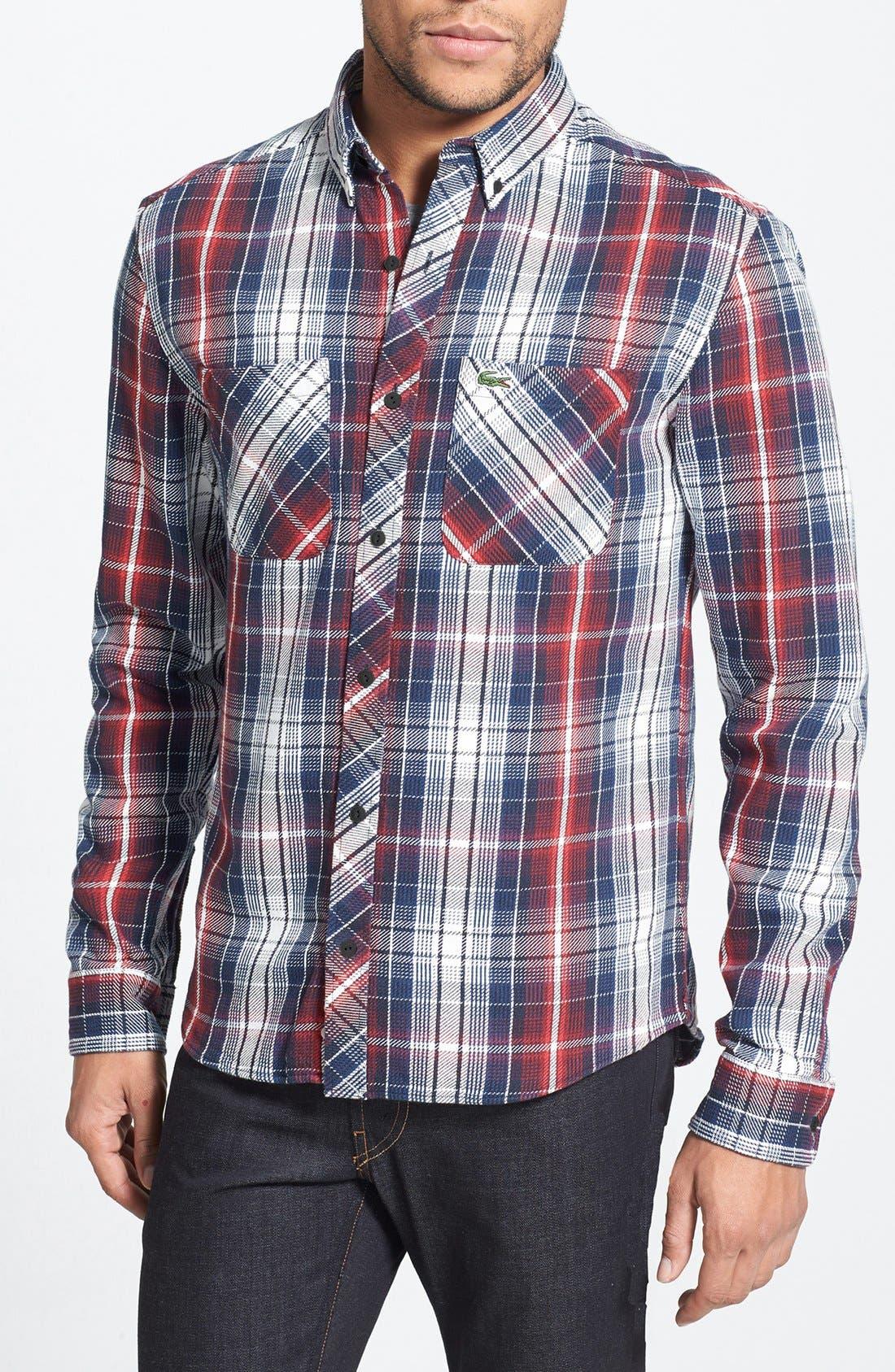 Main Image - Lacoste L!VE Plaid Twill Shirt