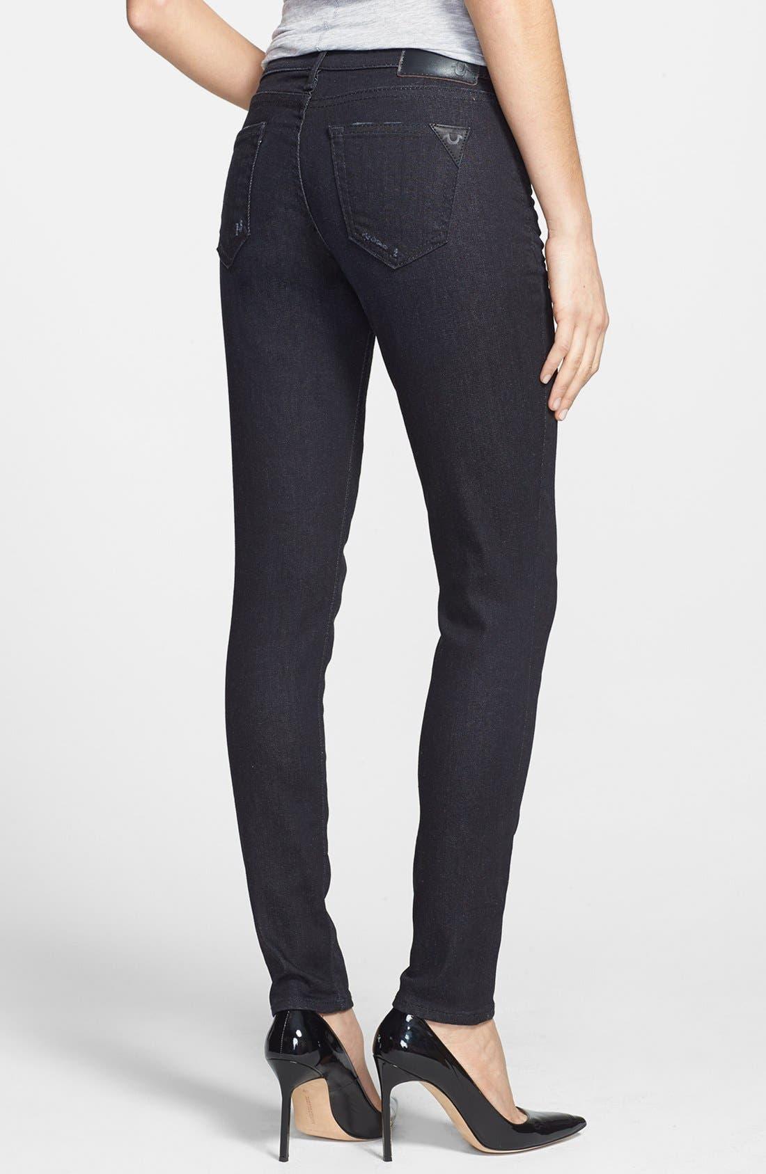 Alternate Image 2  - True Religion Brand Jeans 'Casey' Skinny Jeans (Black Smoke Vintage)