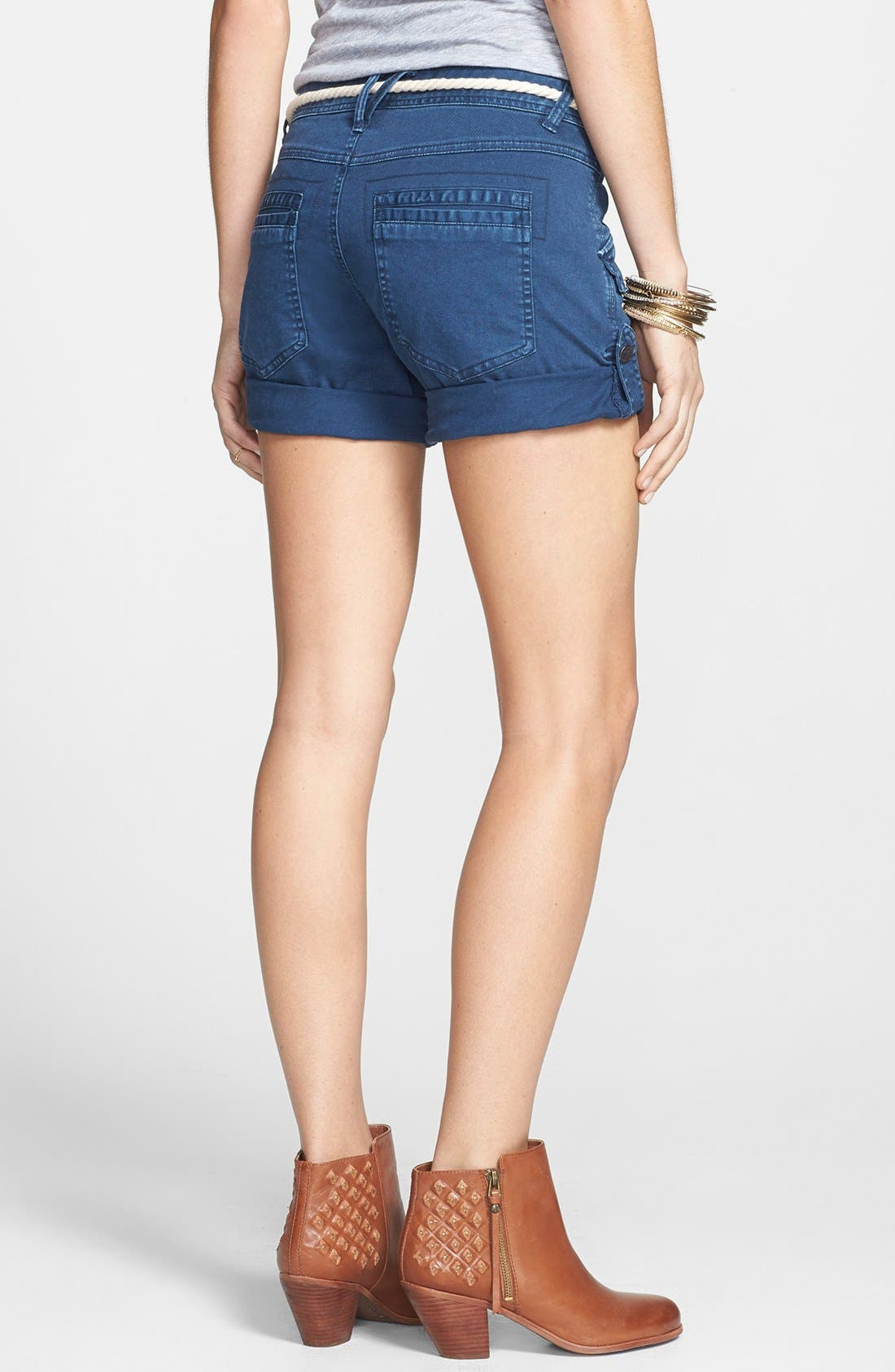 Alternate Image 2  - Free People 'Nautical' Rope Belted Cuffed Shorts