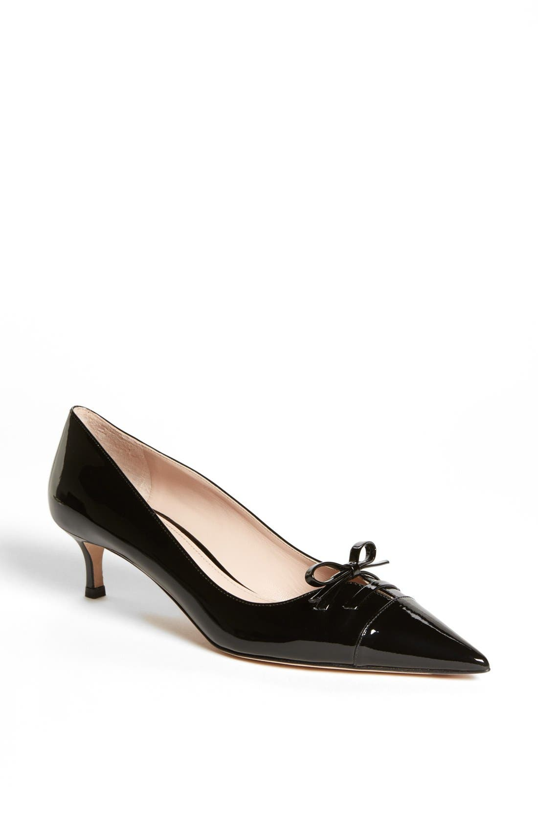 Main Image - Miu Miu Pointed Toe Bow Pump
