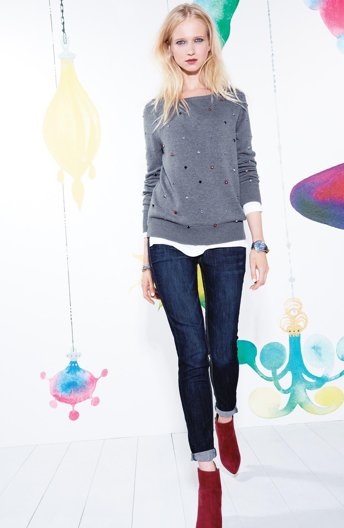 Alternate Image 7  - Wit & Wisdom Skinny Jeans (Indigo) (Nordstrom Exclusive)