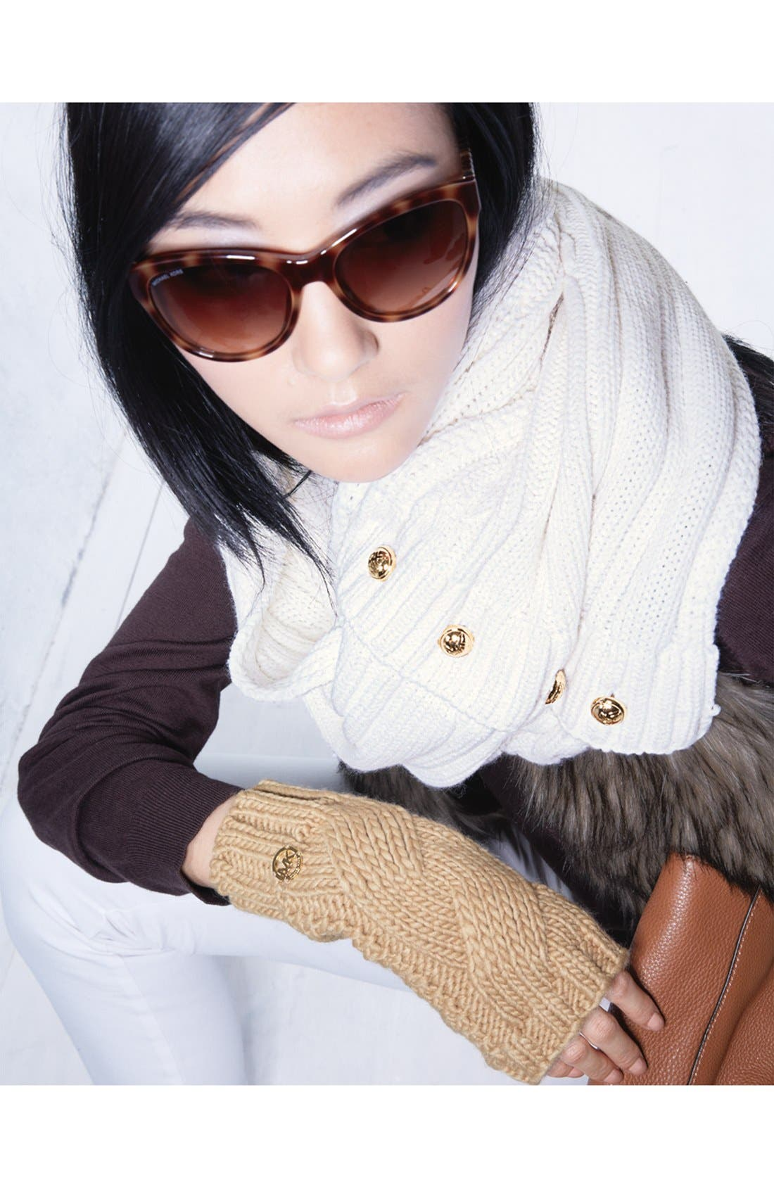 Alternate Image 5  - MICHAEL Michael Kors Cable Knit Arm Warmers