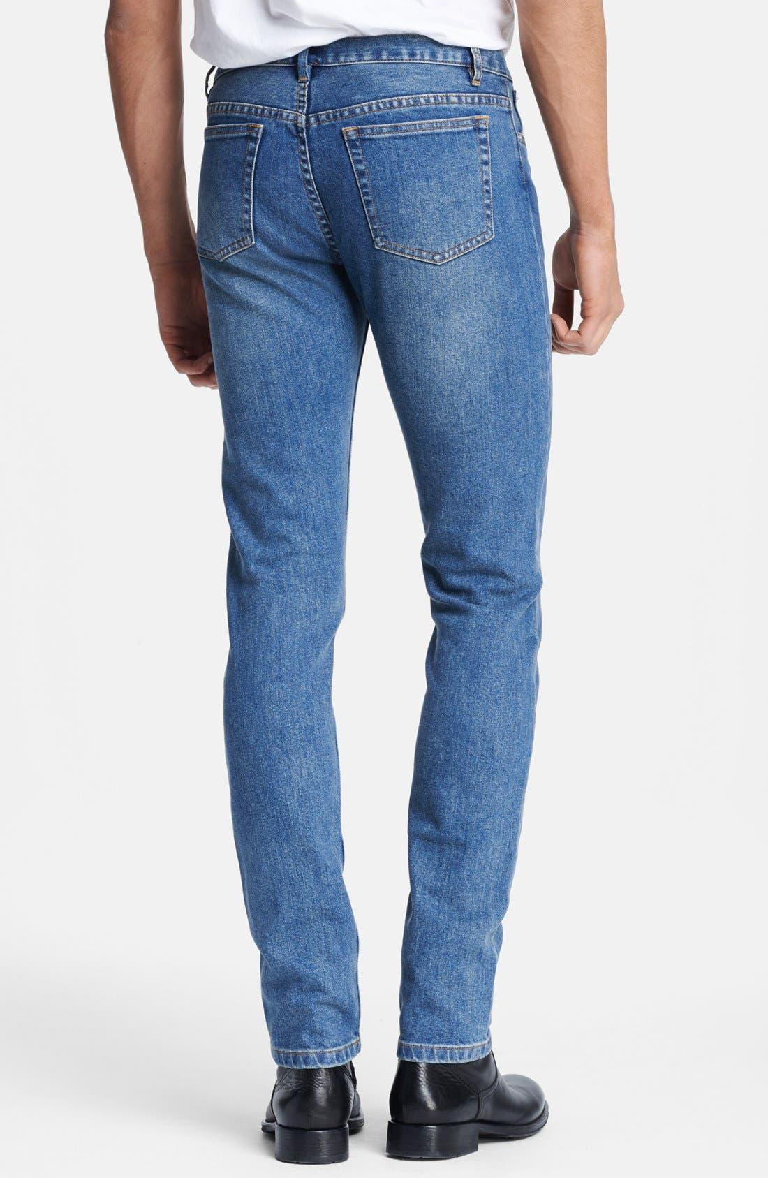 Alternate Image 2  - A.P.C. 'Petit New Standard' Skinny Fit Jeans (Denim Blue)