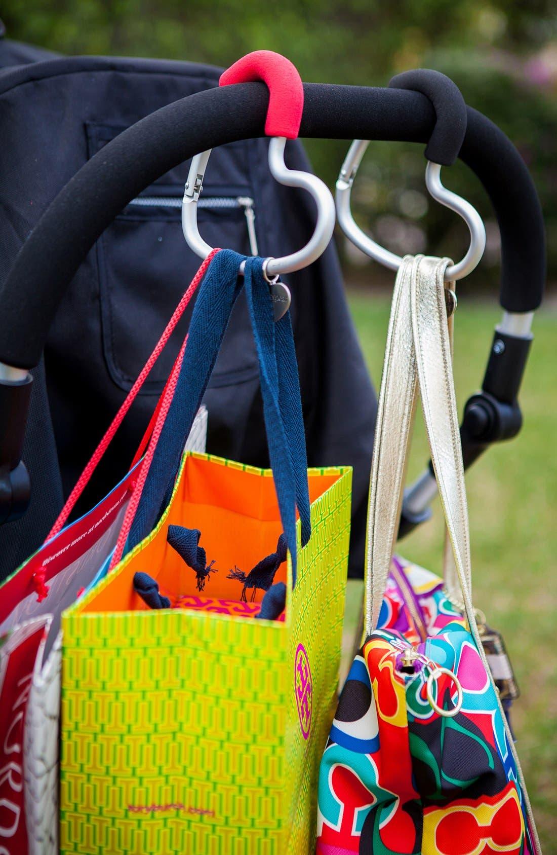 Alternate Image 3  - Buggygear 'Buggy Heart Hook' Stroller Bag Hanger