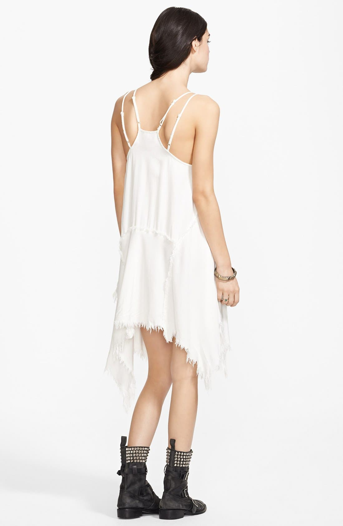 Alternate Image 2  - Free People 'Tattered Up' Shredded Trim Slipdress