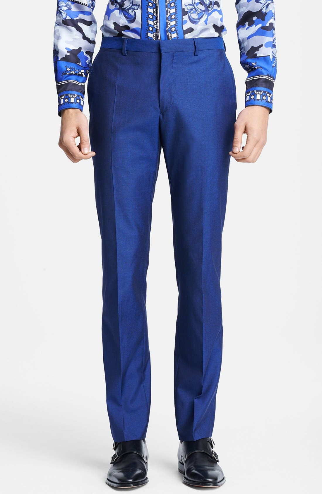 Alternate Image 4  - Versace Trend Fit Wool & Silk Suit