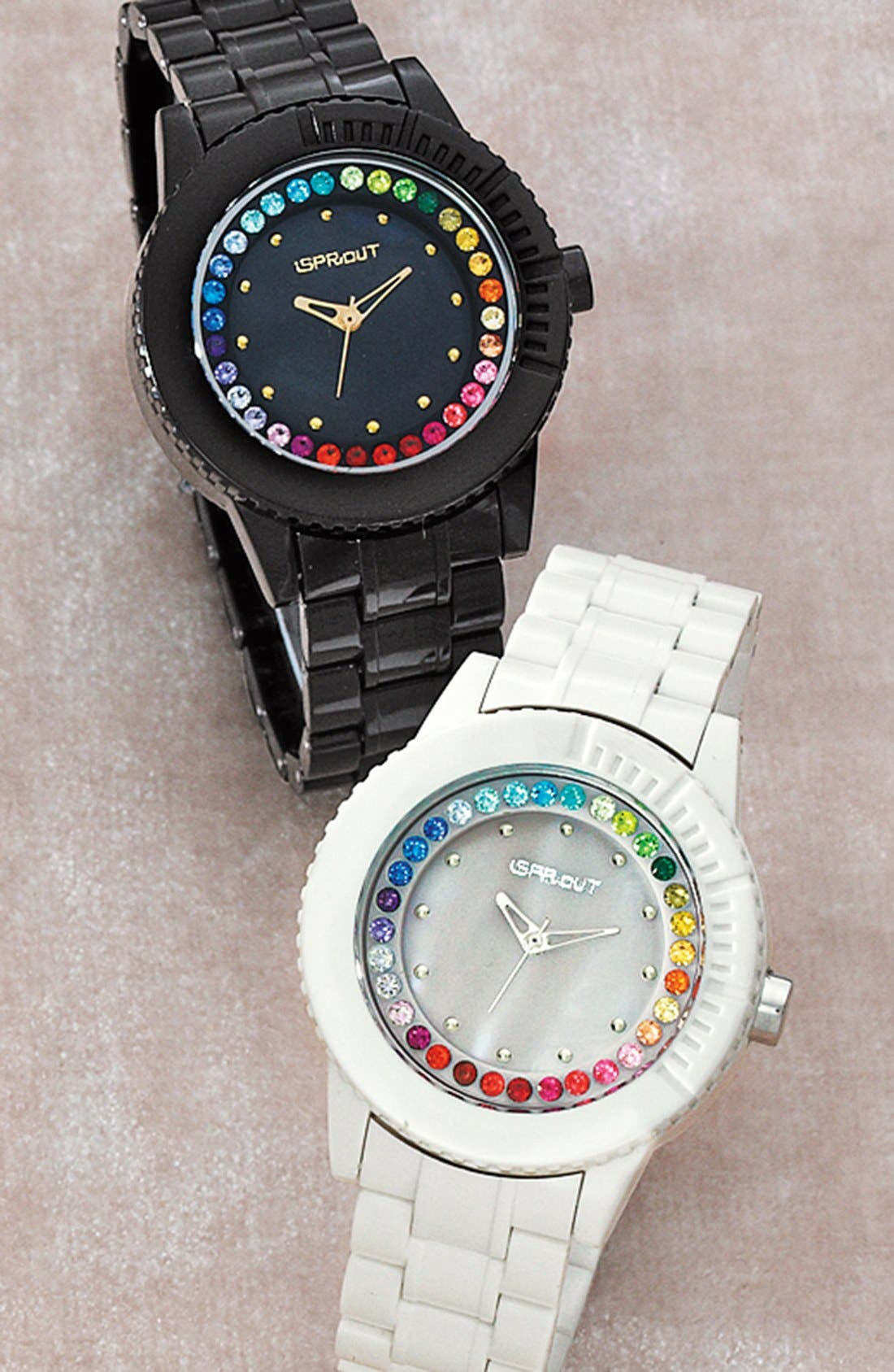 Alternate Image 4  - SPROUT™ Watches Crystal Bezel Bracelet Watch, 45mm