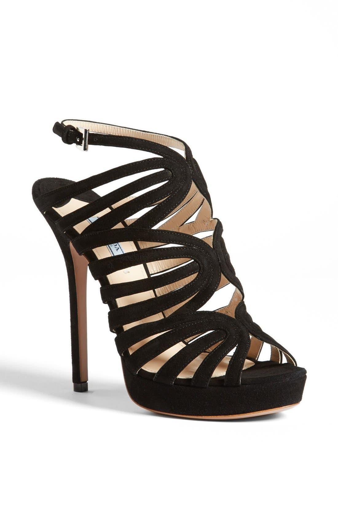 Alternate Image 1 Selected - Prada Caged Platform Sandal