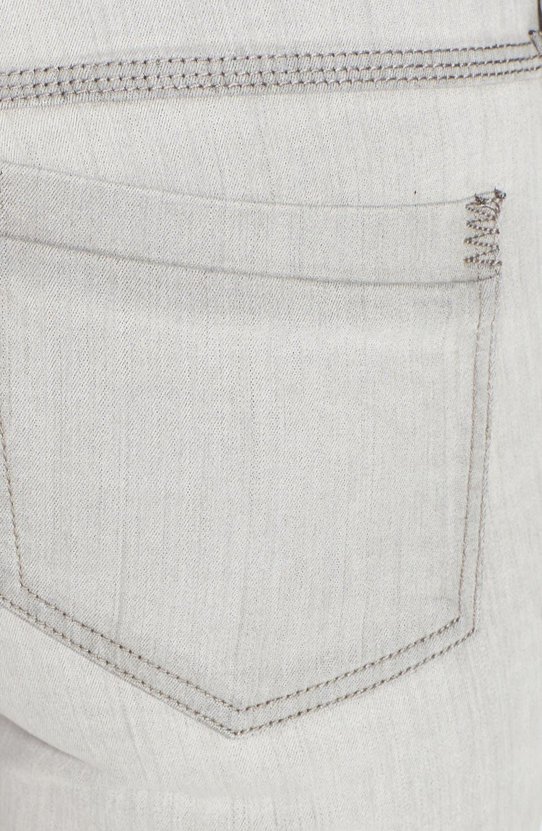 Alternate Image 3  - Free People Stretch Skinny Jeans (Cloudy Grey)