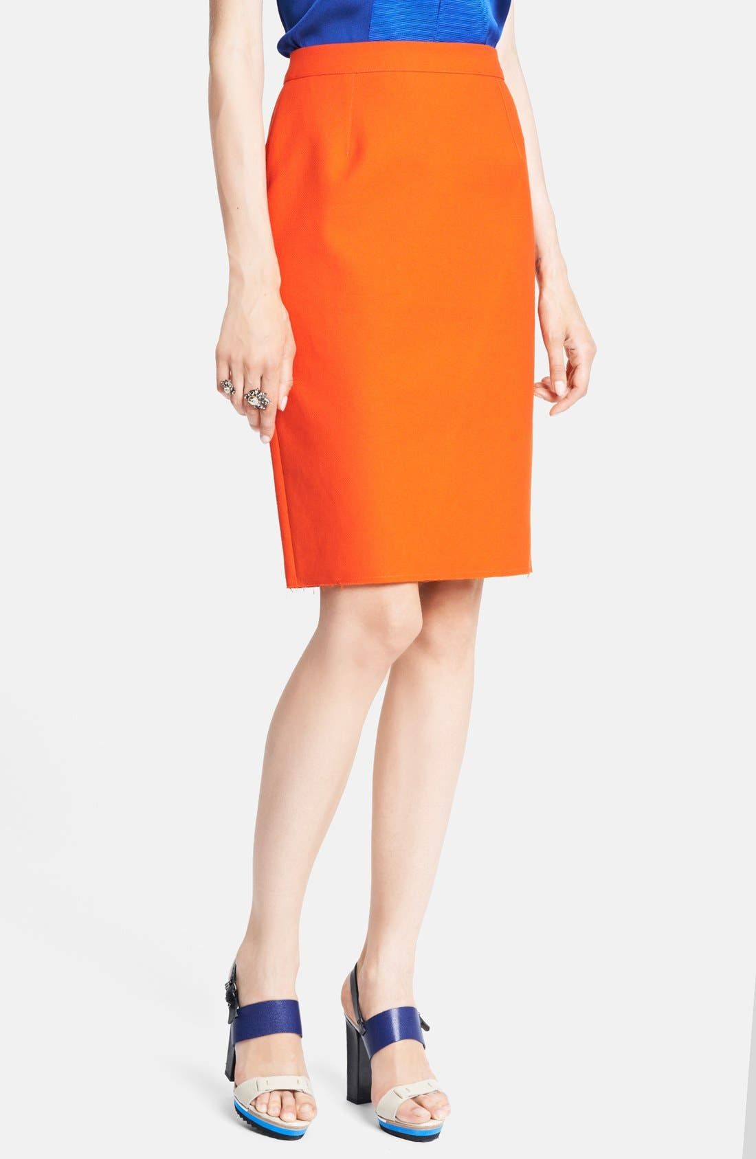 Main Image - Lanvin Cotton Piqué Pencil Skirt