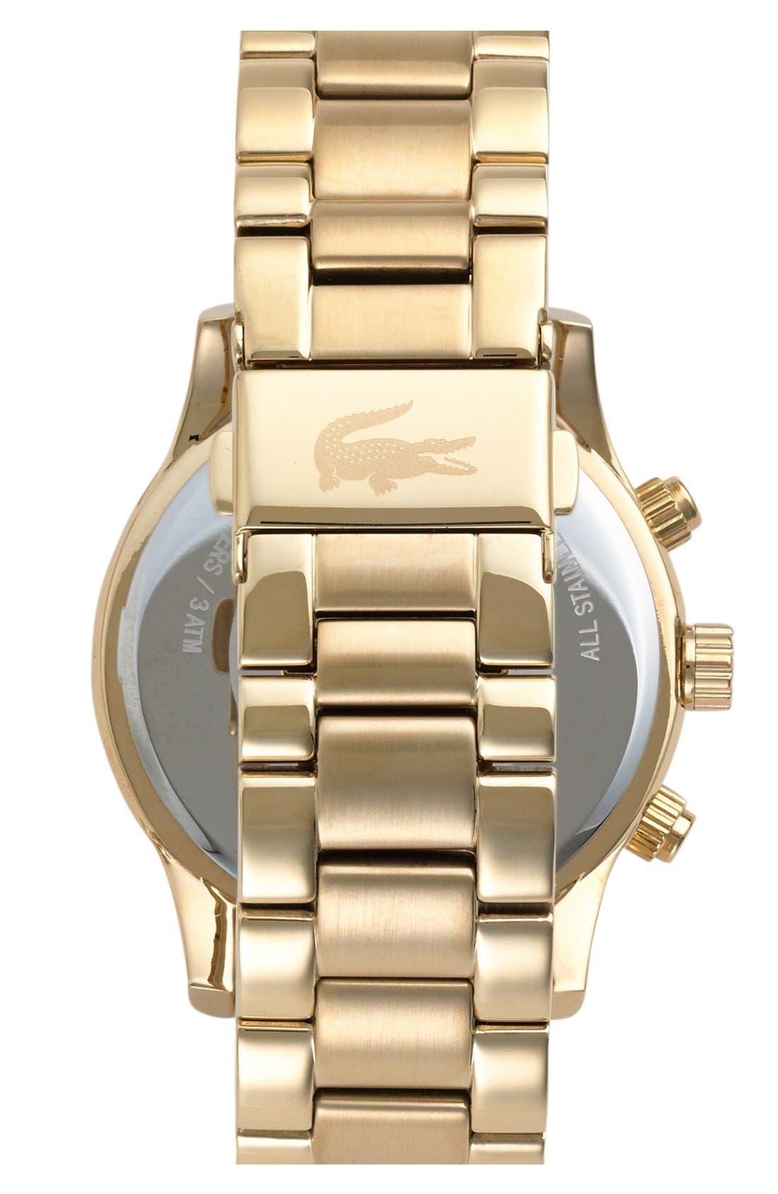 Alternate Image 2  - Lacoste Crystal Bezel Guilloche Dial Bracelet Watch, 40mm