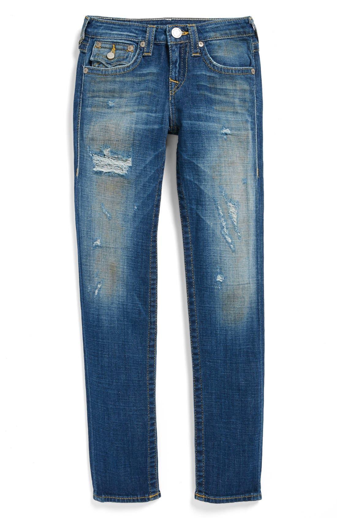 Alternate Image 2  - True Religion Brand Jeans 'Julie' Straight Leg Jeans (Big Girls)