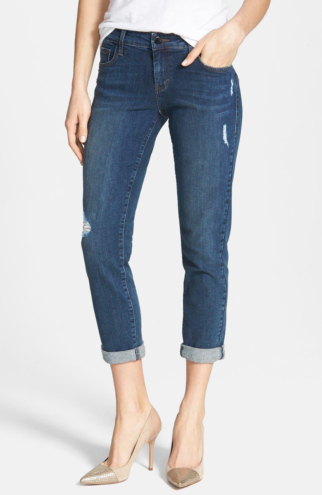 Alternate Image 1 Selected - !iT Collective 'Alex' Boyfriend Jeans (Lakespur)