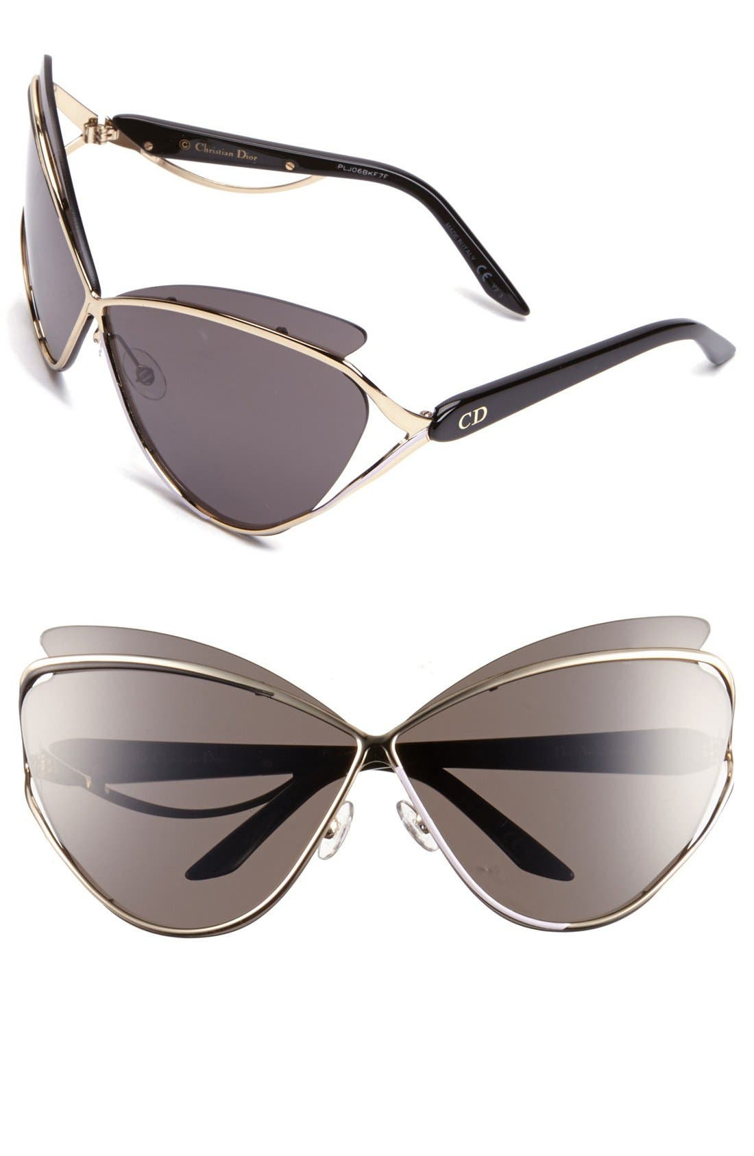 Main Image - Dior 'Audacieuse 1' 72mm Butterfly Sunglasses