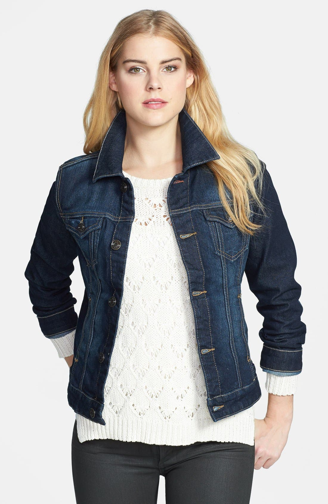 Alternate Image 1 Selected - Jag Jeans 'Rupert' Denim Jacket (Petite)