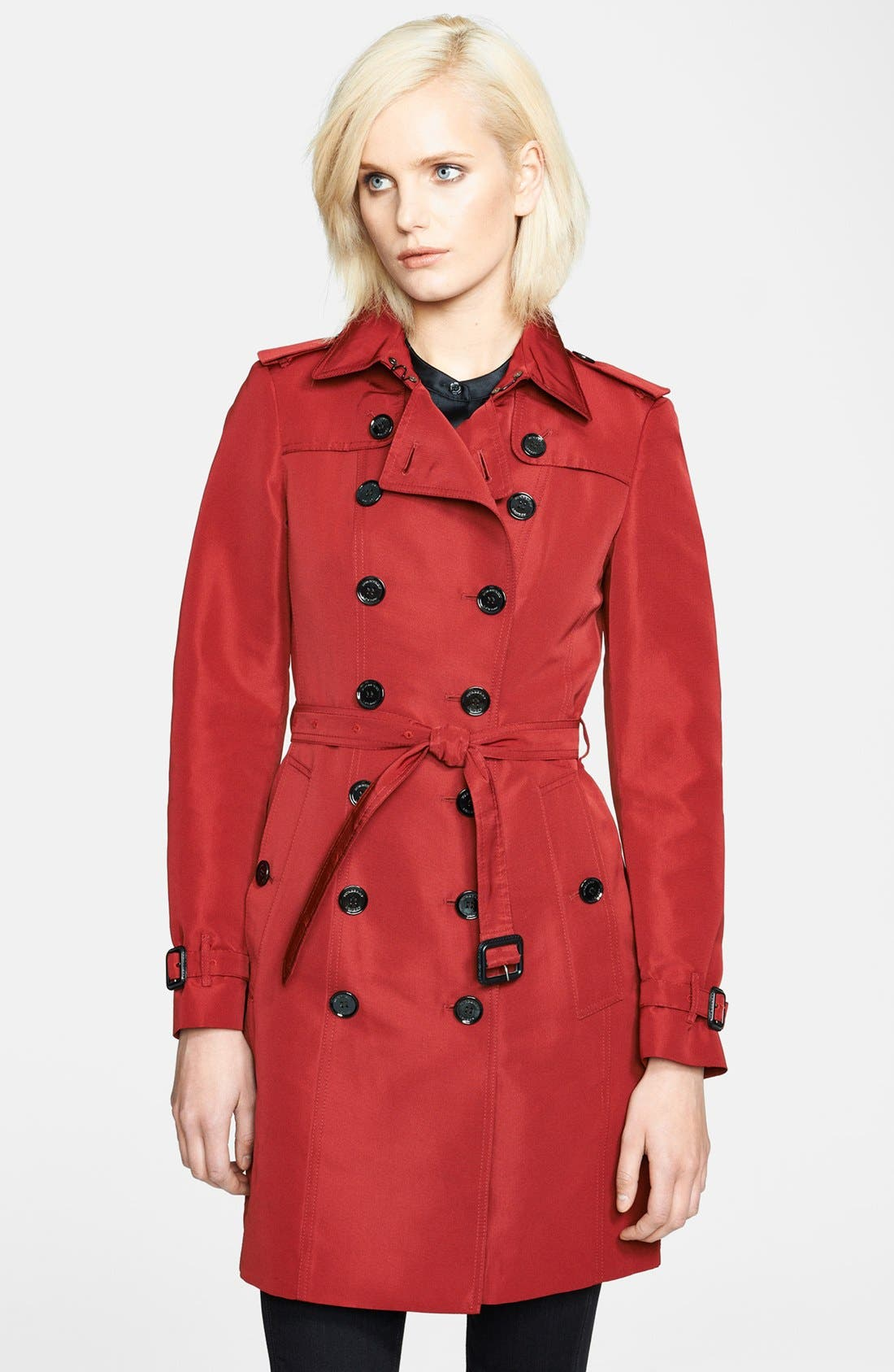 Alternate Image 1 Selected - Burberry London Belted Double Breasted Trench Coat