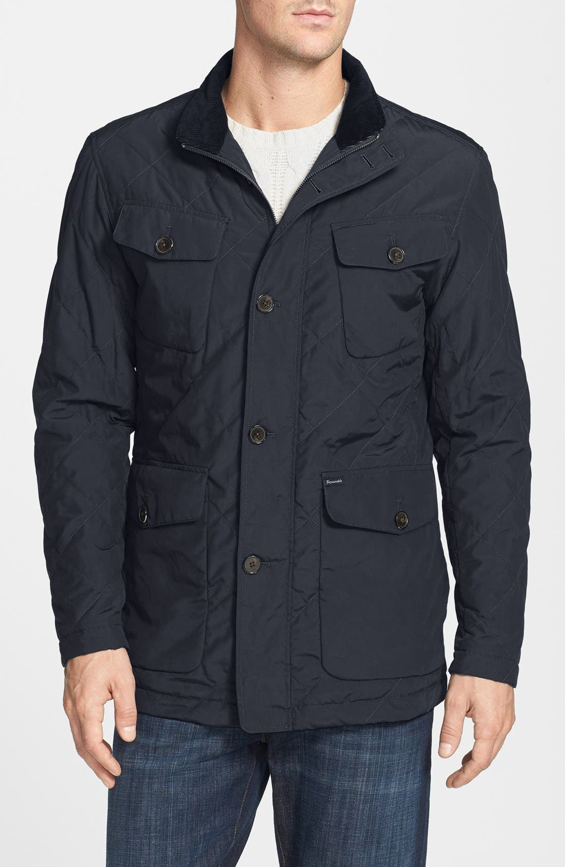 Main Image - Façonnable Microfiber Quilted Parka