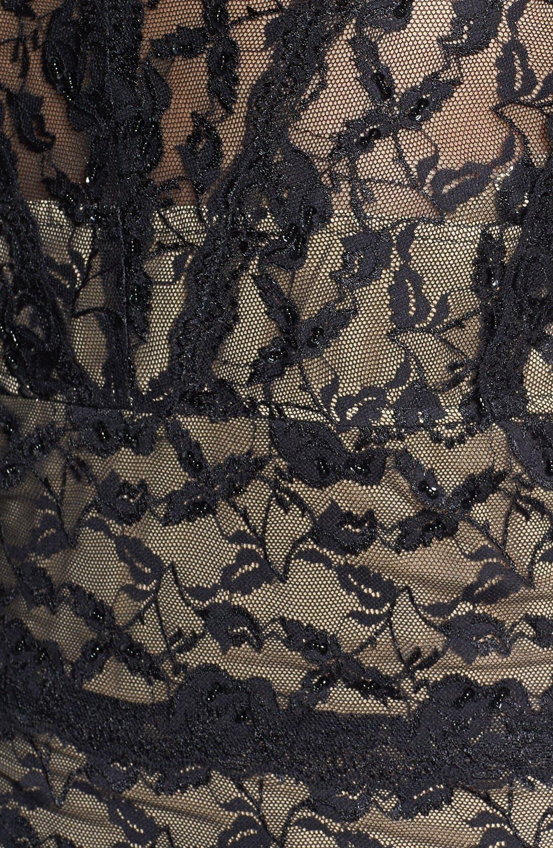 Alternate Image 3  - Marina Beaded Lace Dress (Plus Size)