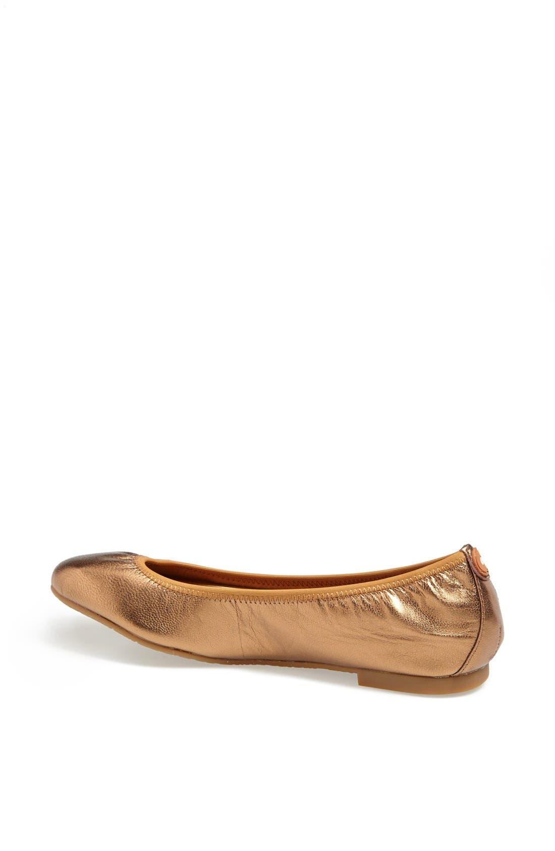 Alternate Image 2  - Juil 'The Flat' Earthing Metallic Leather Ballet Flat