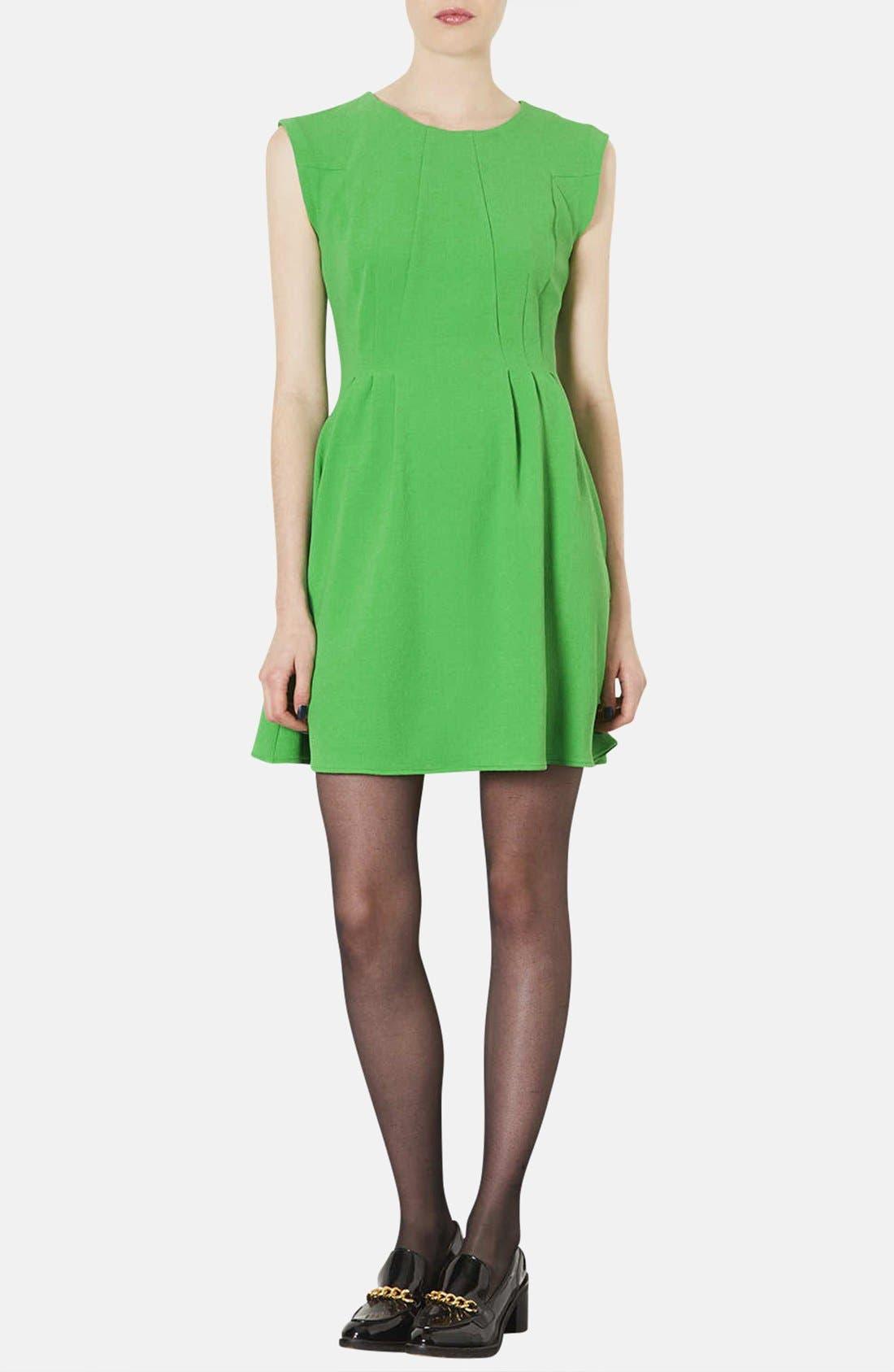 Main Image - Topshop Crepe Fit & Flare Dress