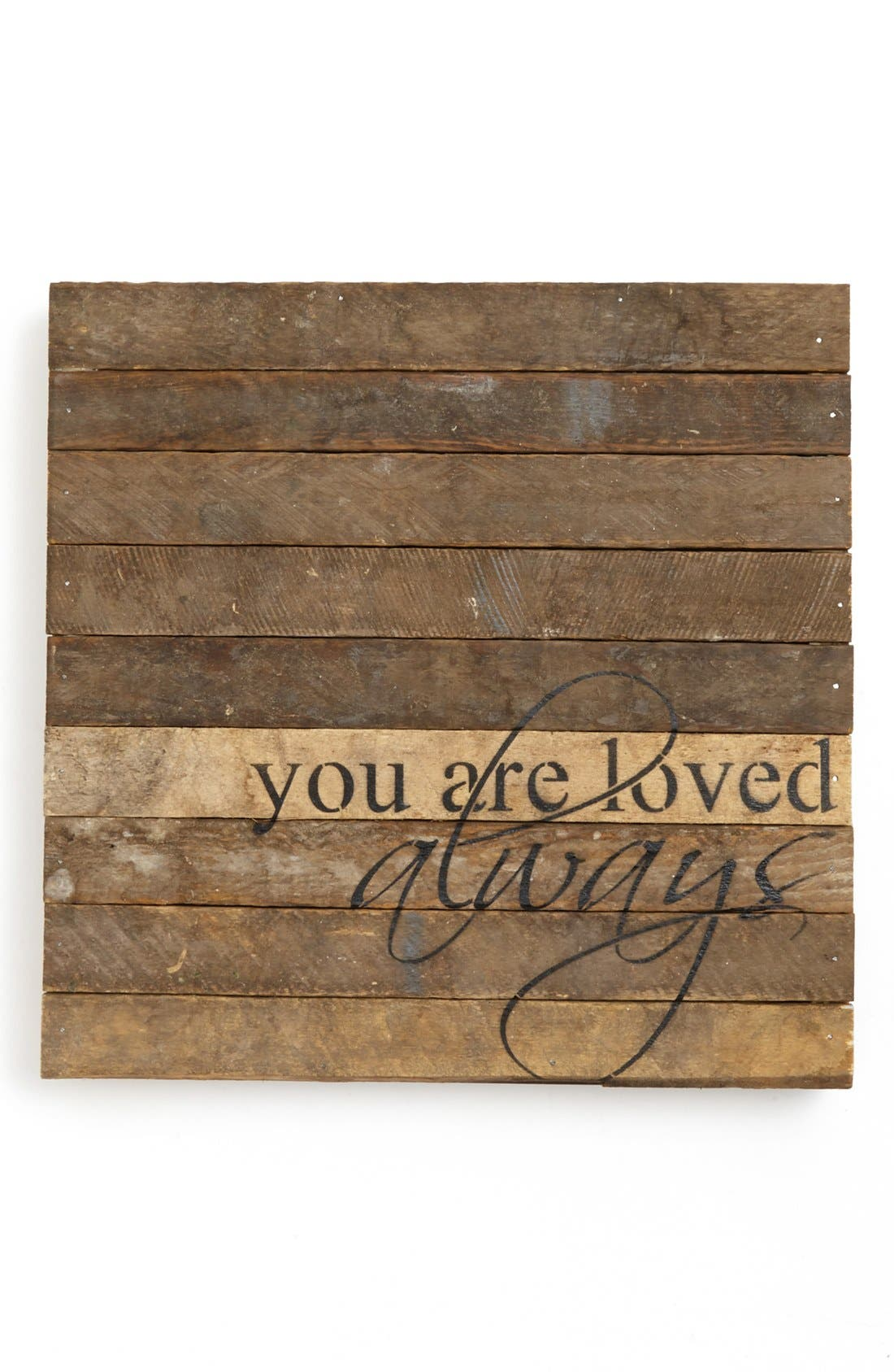 Alternate Image 1 Selected - Second Nature by Hand 'You Are Loved Always' Wall Art
