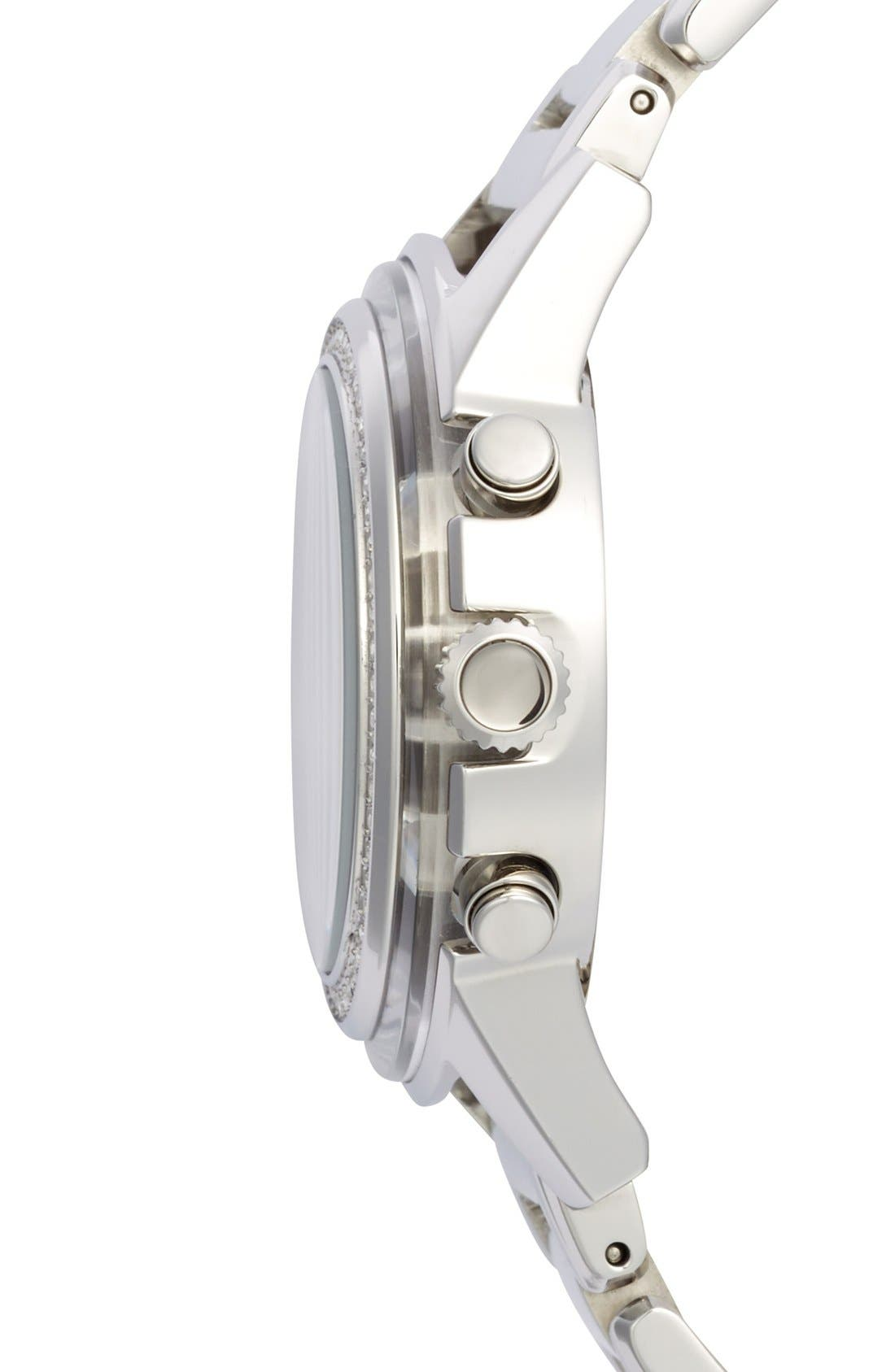 Alternate Image 4  - Breil 'Orchestra' Crystal Bezel Chronograph Bracelet Watch, 37mm