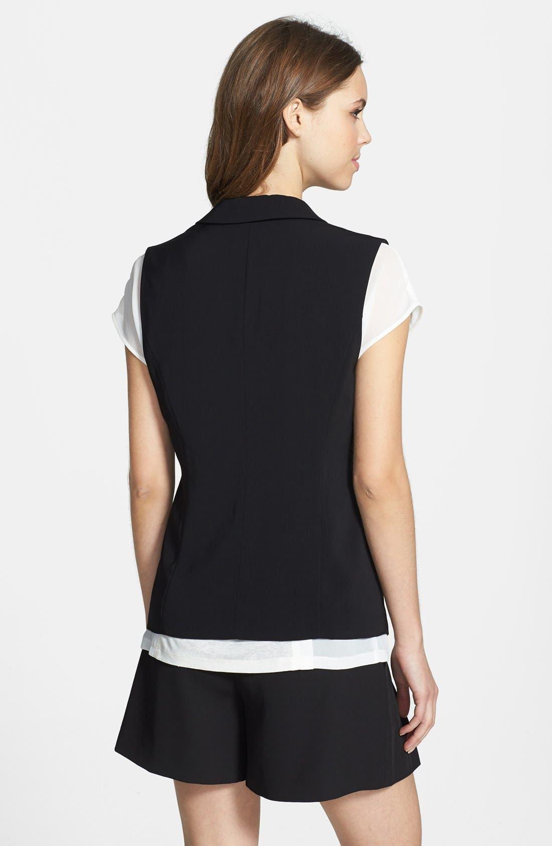 Alternate Image 2  - Halogen® Twill Vest (Regular & Petite)