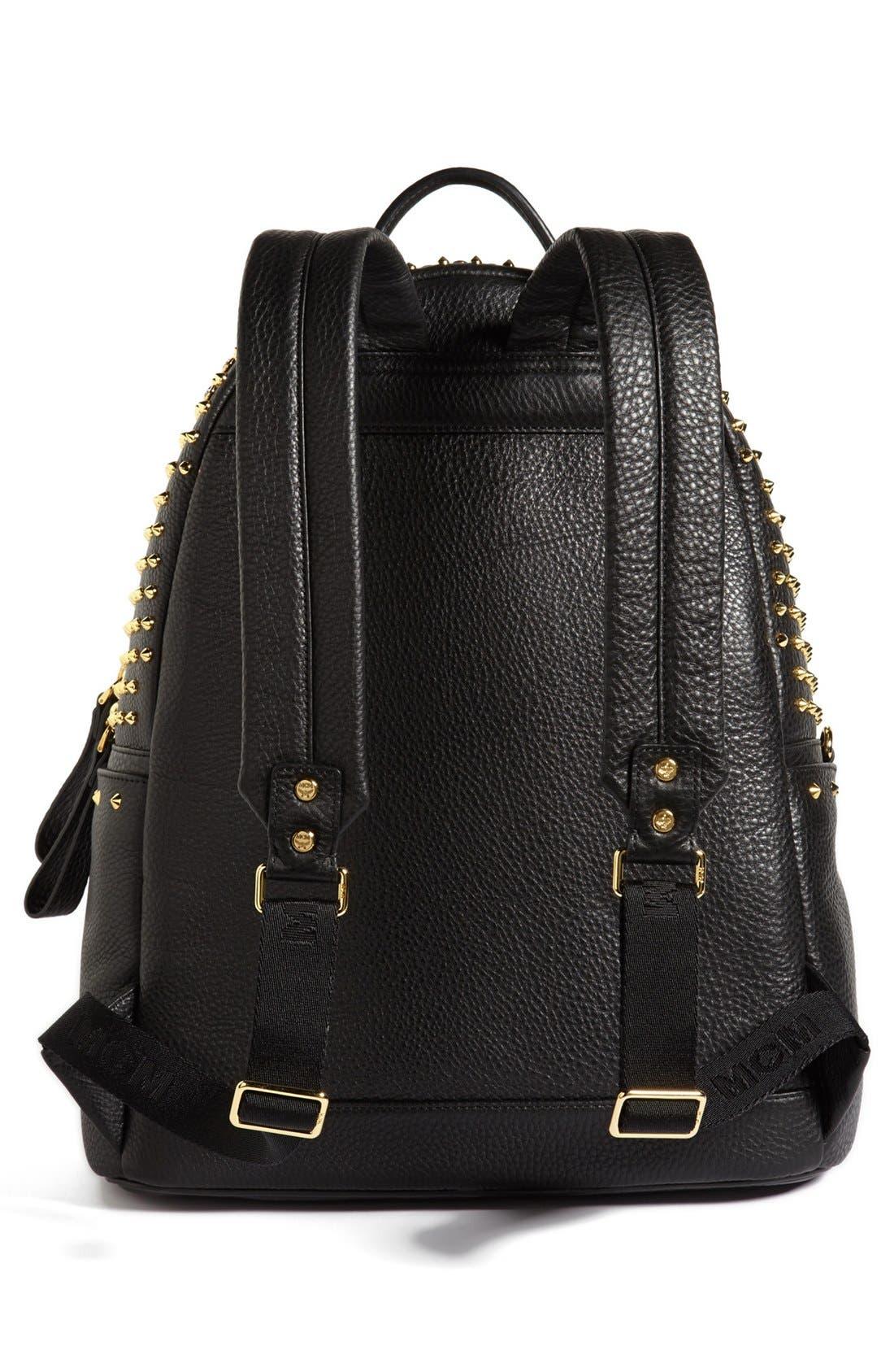 Alternate Image 4  - MCM 'Crystal Studded - Medium' Leather Backpack