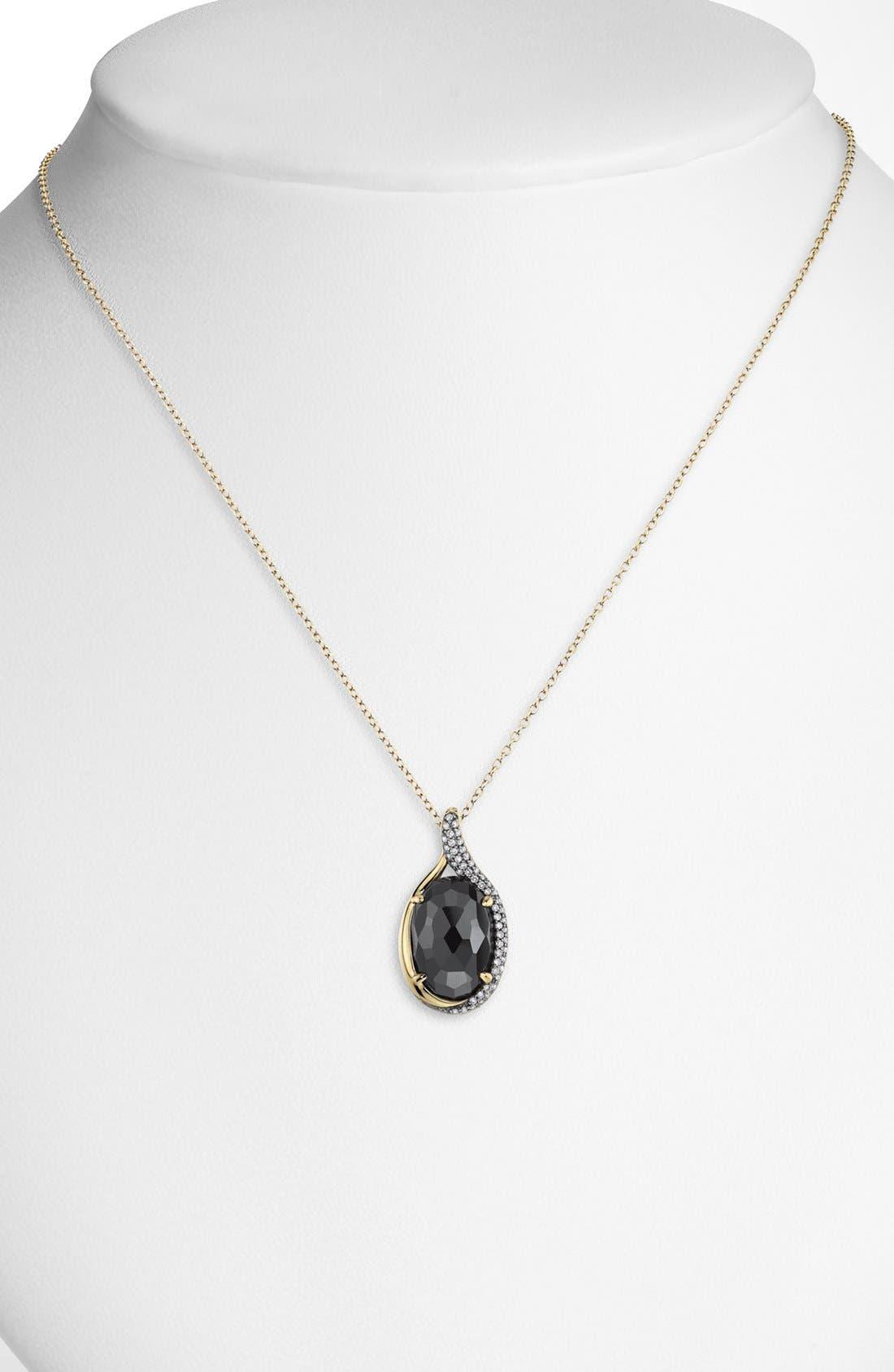 Alternate Image 1 Selected - Whitney Stern Diamond & Stone Pendant Necklace